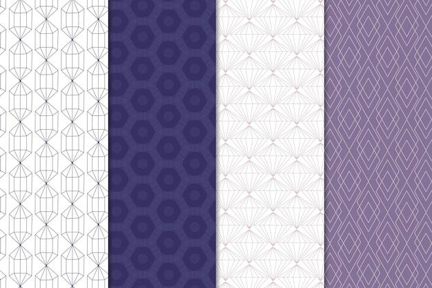 Minimales geometrisches mustersammlungsthema Kostenlosen Vektoren