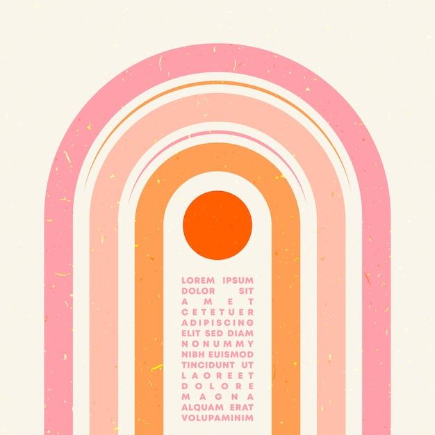 Minimales geometrisches typografie-design Premium Vektoren