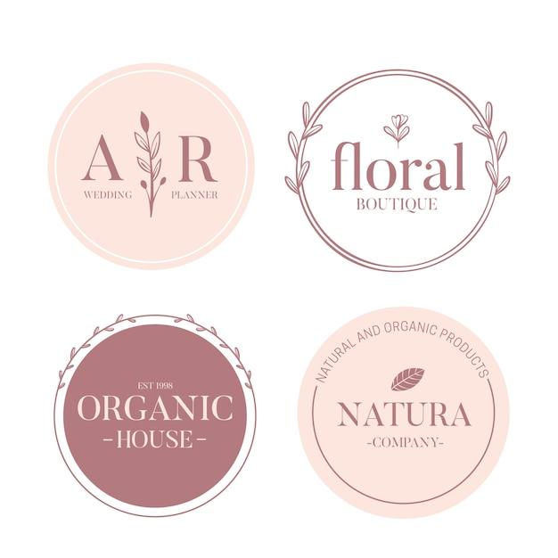 Minimales logo in zwei farben Kostenlosen Vektoren