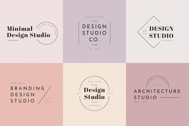 Minimales logo mit pastellfarben Kostenlosen Vektoren