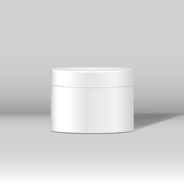 Minimales weißes kosmetisches glasmodell Kostenlosen Vektoren