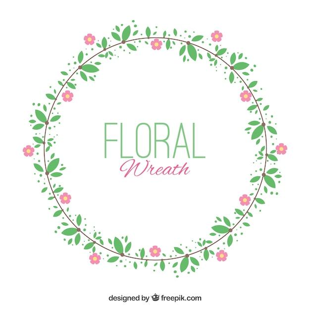 Minimalist blumenkranz mit rosa bl ten download der for Was ist ein minimalist