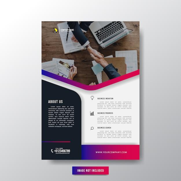 Minimalist business flyer broschüre für unternehmer Premium Vektoren