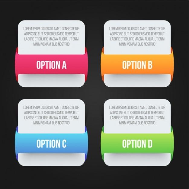 Minimalist infografik vorlage mit vier optionen download for Was ist ein minimalist