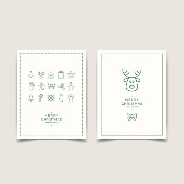 Minimalist karten mit weihnachtsdekoration download der for Was ist ein minimalist