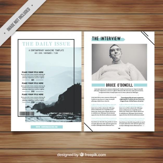 Minimalist magazin vorlage download der kostenlosen vektor for Was ist ein minimalist