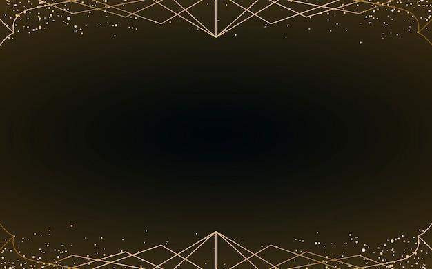 Minimalistische art deco tapete mit dekorativem gold glitter ...