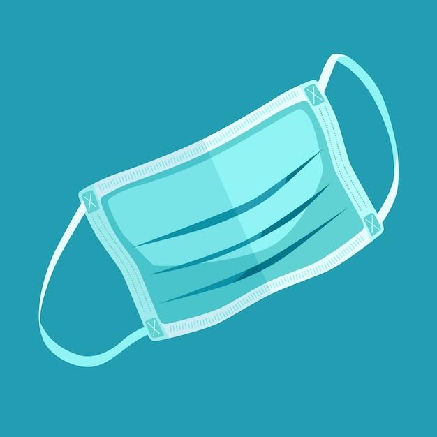 Minimalistische darstellung der medizinischen maske Kostenlosen Vektoren