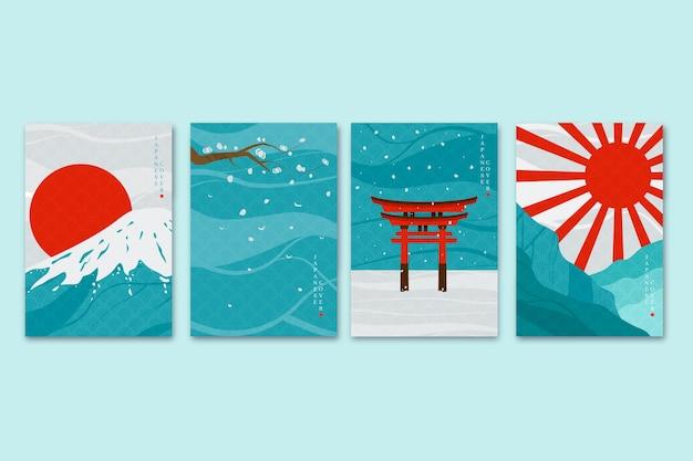 Minimalistische japanische titelsammlung Kostenlosen Vektoren
