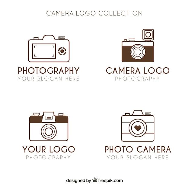 Minimalistische kamera logo kollektion download der for Was ist ein minimalist