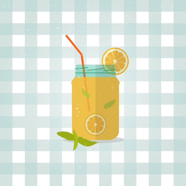 Minimalistische limonaden-symbol im flachen stil. Premium Vektoren