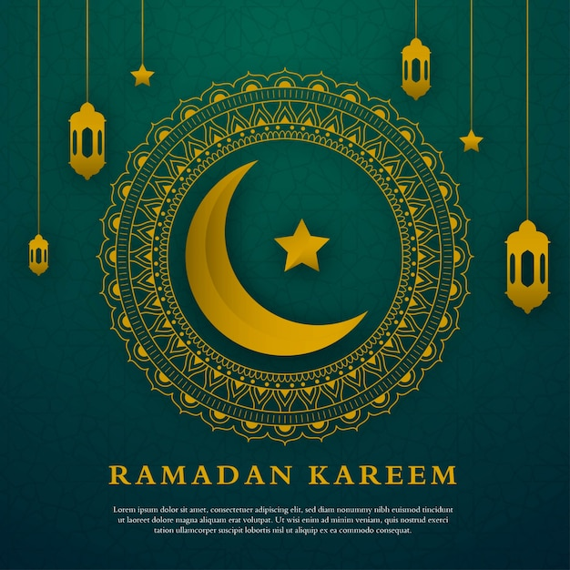 Minimalistische ramadan kareem grußkartenvorlage Premium Vektoren
