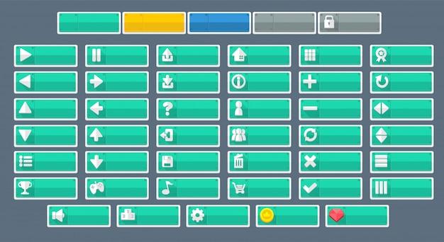 Minimalistische schaltflächen Premium Vektoren