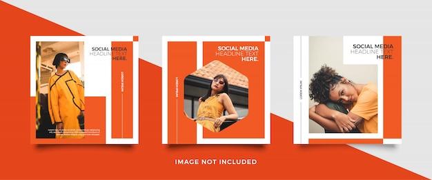 Minimalistische social-media-beitragsvorlage Premium Vektoren