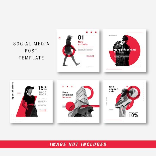 Minimalistische vorlage für soziale medien Premium Vektoren