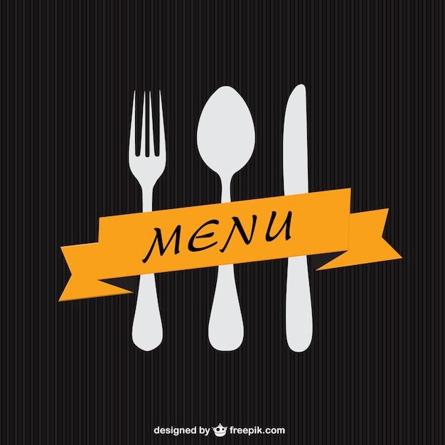Minimalistischen menü-vorlage Kostenlosen Vektoren