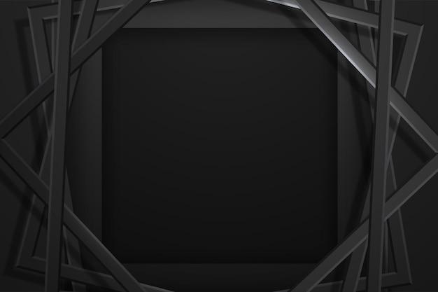 Minimalistischer schwarzer premium abstrakter hintergrund Premium Vektoren