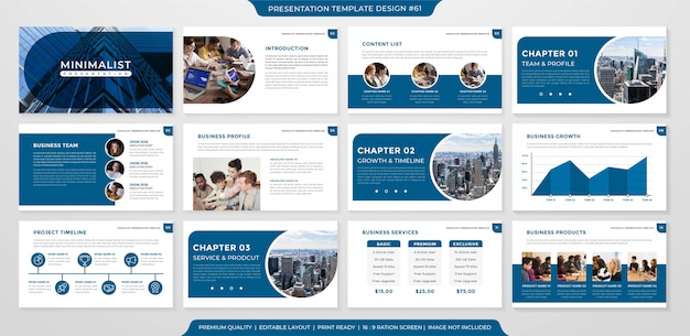 Minimalistisches business layout template design Premium Vektoren