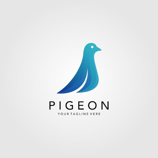 Minimalistisches logo des taubenvogels Premium Vektoren