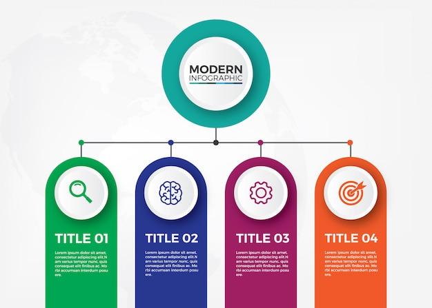 Minimalistisches organisationsdiagramm Premium Vektoren