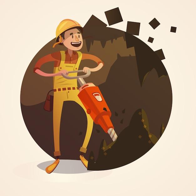 Mining-konzept abbildung Kostenlosen Vektoren