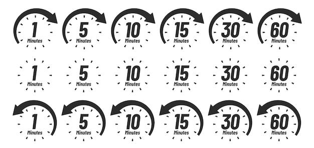 Minuten-zeitsymbol. Premium Vektoren