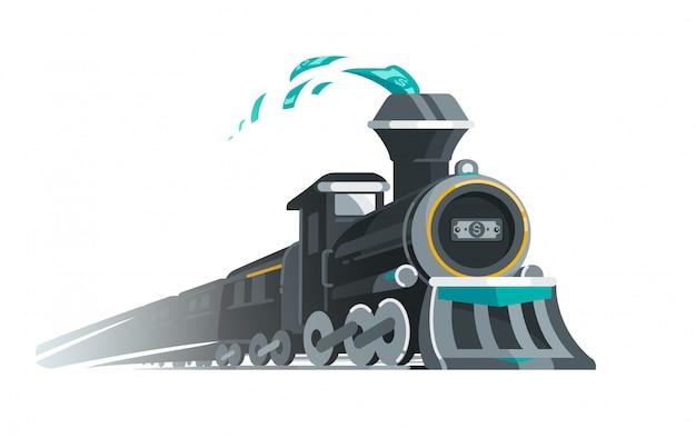Mit dem soßenzug fahren Premium Vektoren