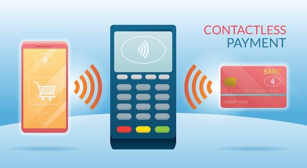 Mit kreditkarte, smart card und smartphone Premium Vektoren