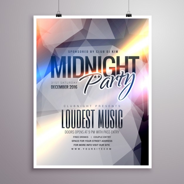Mitternacht Musik-Party-Flyer Broschüre Vorlage | Download der ...