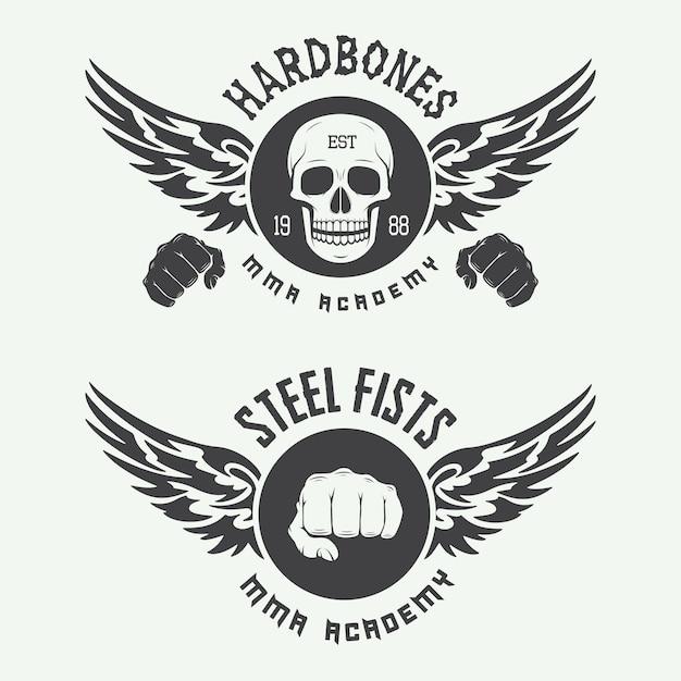 Mixed martial arts-logo Premium Vektoren