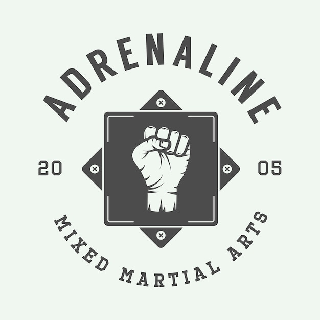 Mixed martial arts-logo Premium Vektoren