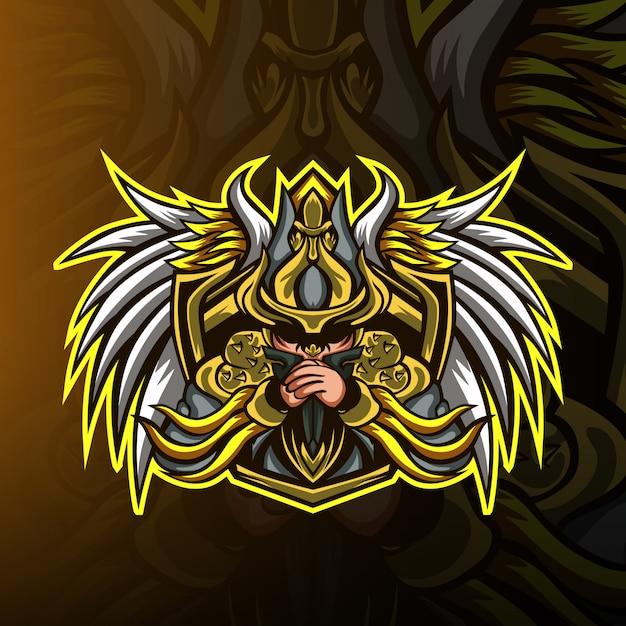 Mob squad gaming maskottchen logo Premium Vektoren