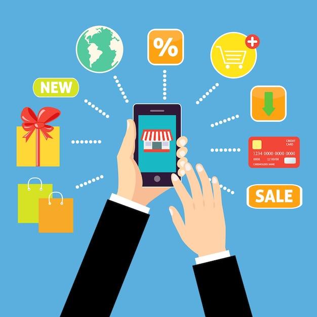 Mobile-anwendung, dienstleistungen Kostenlosen Vektoren
