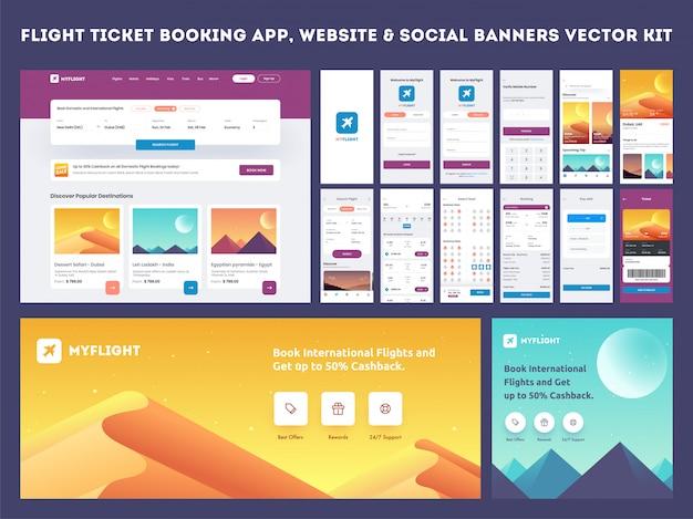 Mobile app-benutzeroberfläche. Premium Vektoren