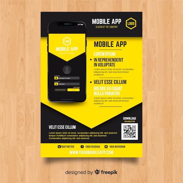 Mobile app-flyer-vorlage Kostenlosen Vektoren