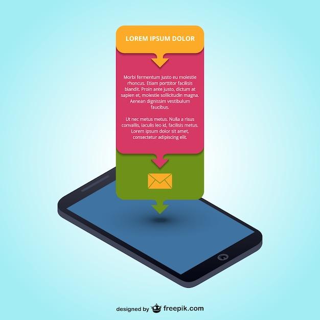 Mobile app infografik Kostenlosen Vektoren