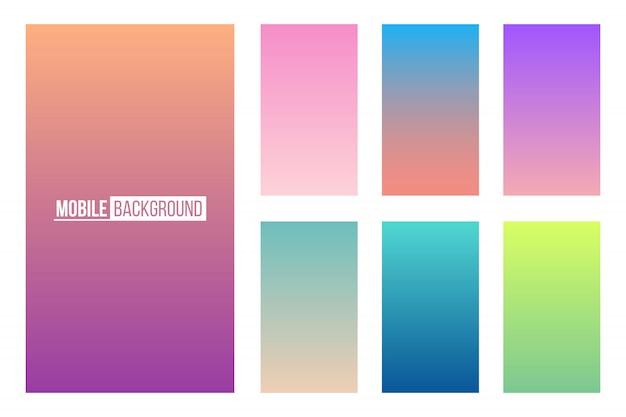 Mobile app weiche farbe hintergrund. Premium Vektoren