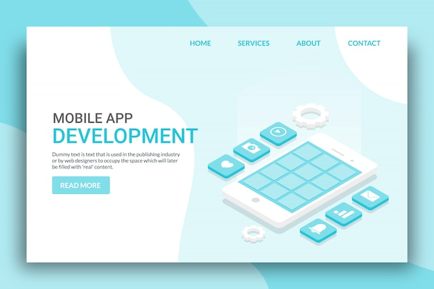 Mobile applikation Premium Vektoren