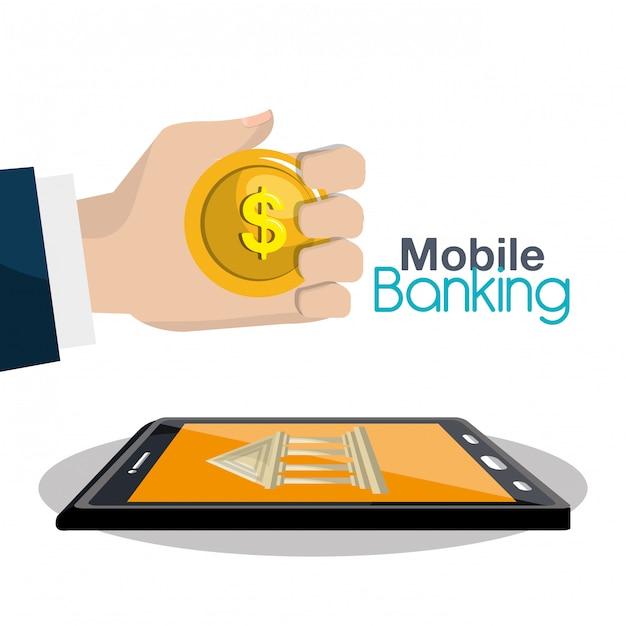 Mobile banking Kostenlosen Vektoren