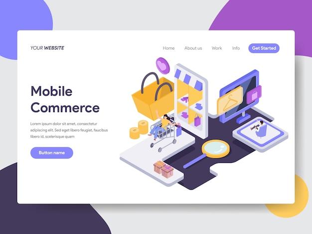 Mobile commerce illustration Premium Vektoren