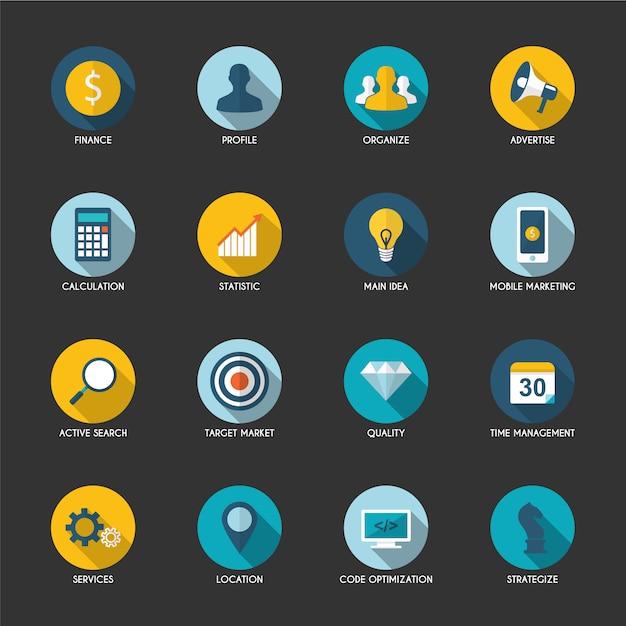 Mobile icon sammlung Kostenlosen Vektoren