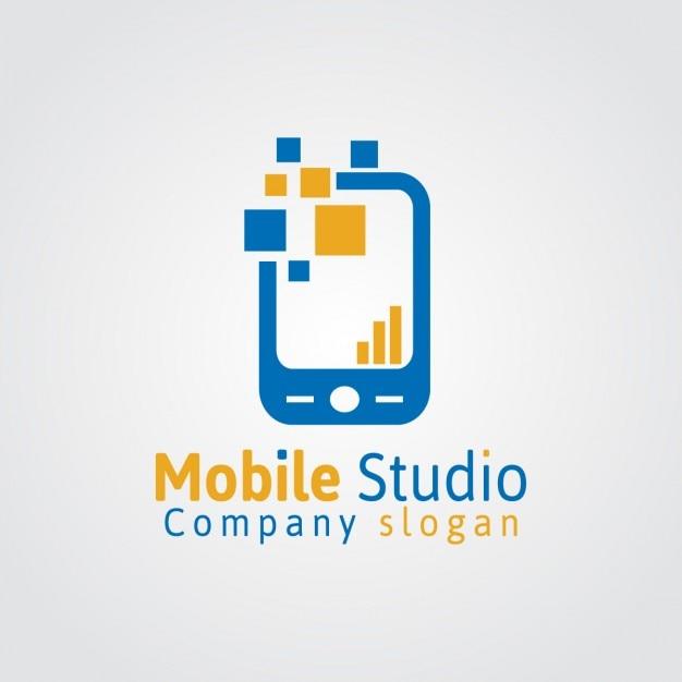 Mobile studio logo Kostenlosen Vektoren