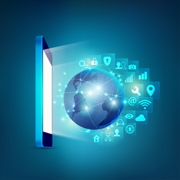 Mobile technologie Premium Vektoren