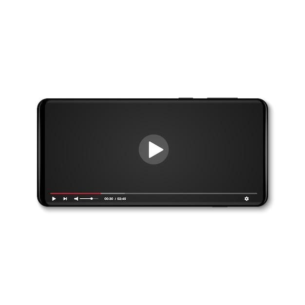 Mobiler video-player Premium Vektoren