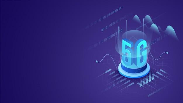 Mobiles internet 5g-netzdienstkonzept. Premium Vektoren