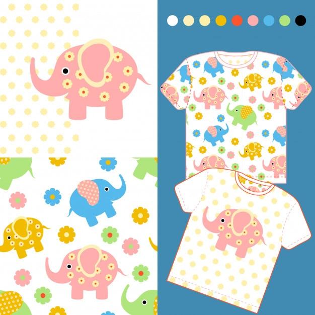 online store 686d8 44d38 Mode-design-set für baby-kleidung mit niedlichen elefanten ...