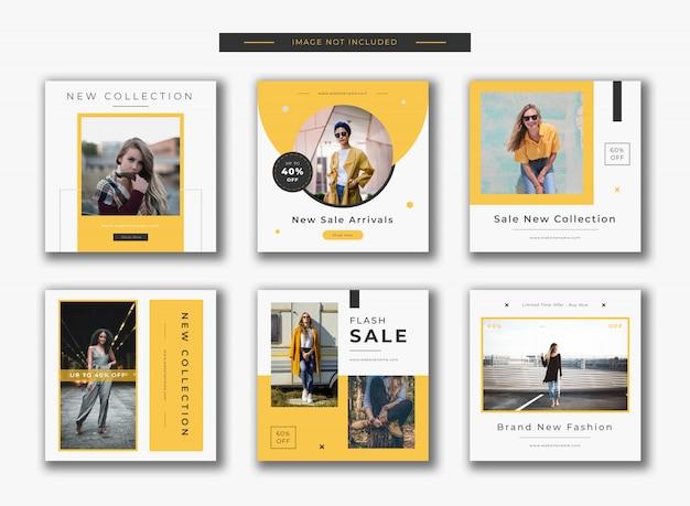 Mode instagram beitrag vorlage banner Premium Vektoren