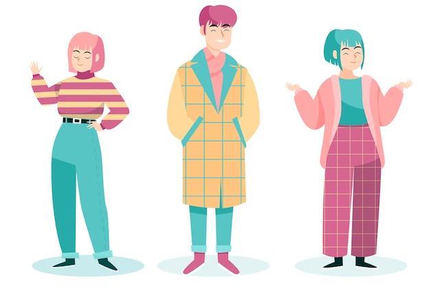 Mode junge koreaner Kostenlosen Vektoren