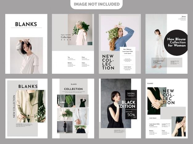 Mode-lookbook-vorlage Premium Vektoren