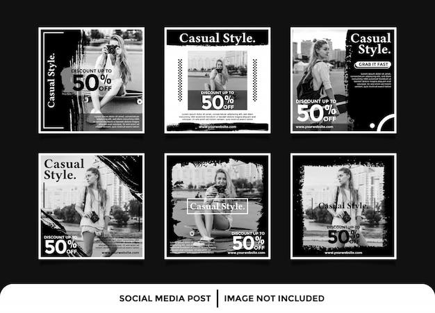Mode social media banner instagram beitragsvorlage Premium Vektoren